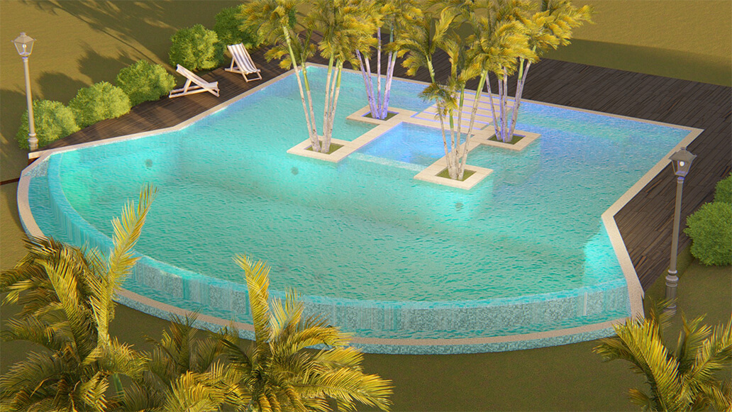 Pool and spa designs in Panama