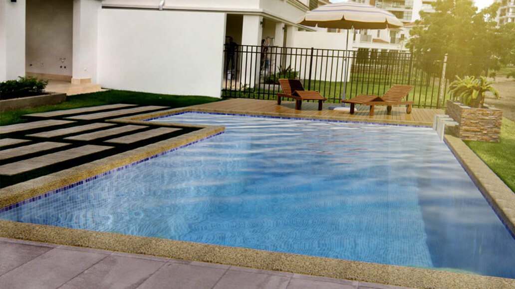Pool and spa model in Panama west