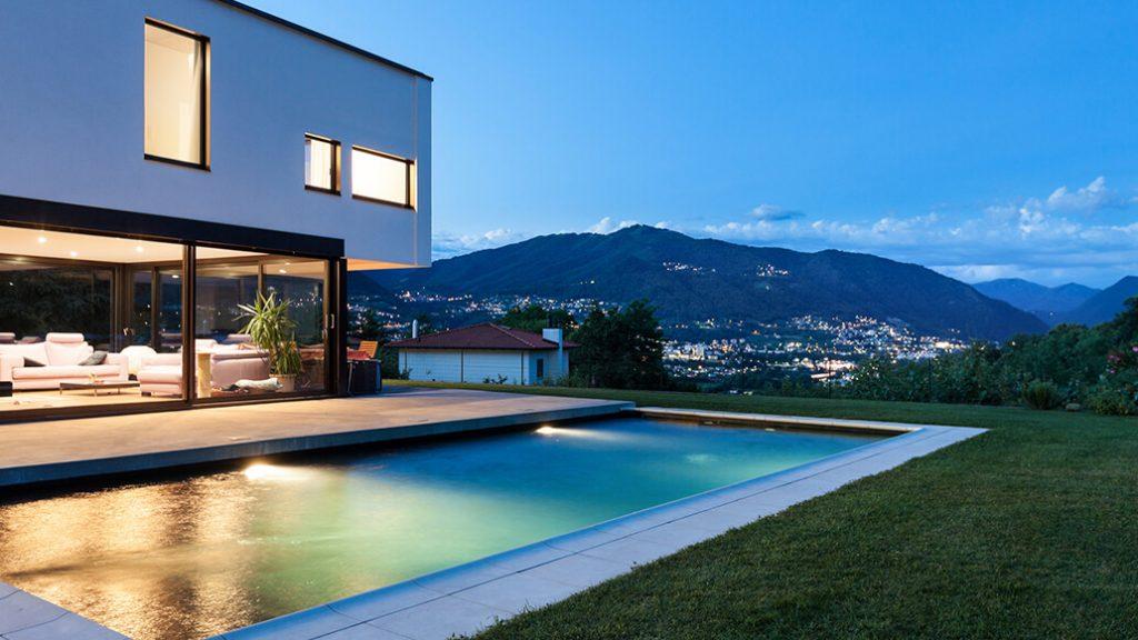Architectural pool design in Costa Rica